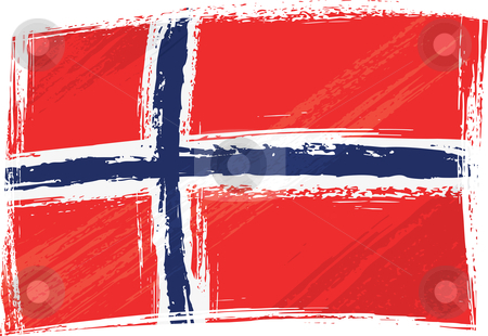 Grunge Norway flag stock vector clipart, Norway national flag created in grunge style by Oxygen64