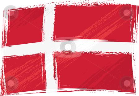 Grunge denmark flag stock vector clipart, Denmark national flag created in grunge style by Oxygen64
