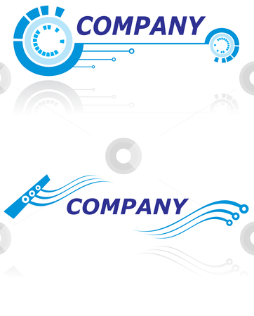 Logo for modern company stock vector clipart, Two logo design templates for modern company by Oxygen64