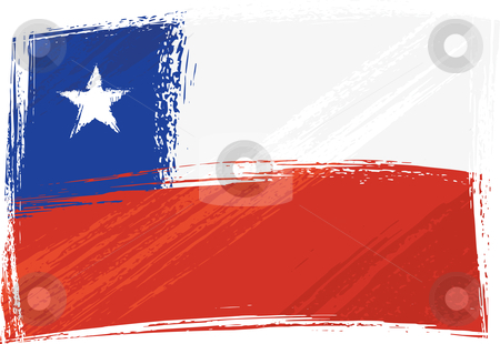 Grunge Chile flag stock vector clipart, Chile national flag created in grunge style by Oxygen64