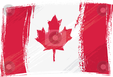 Grunge Canada flag stock vector clipart, Canada national flag created in grunge style by Oxygen64