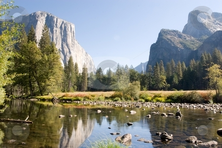 Yosemite Valley View stock photo, Yosemite Valley is a world-famous scenic location in the Sierra Nevada mountains of California. by Mariusz Jurgielewicz