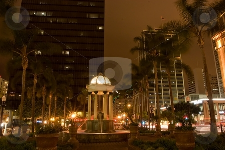 San Diego's Gaslamp district  stock photo, The Gaslamp Quarter is a 16 1/2 block historical neighborhood in downtown San Diego, California. by Mariusz Jurgielewicz