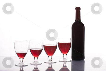Wine stock photo, Wine glass and bottle by Fesus Robert