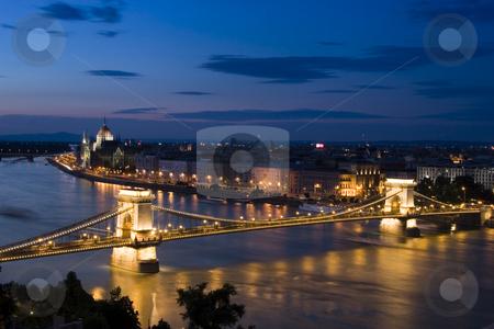 Budapest stock photo, Budapest panorama by nightfall by Fesus Robert