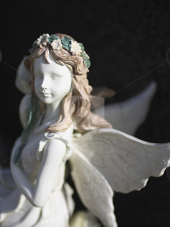Fairy close up stock photo, A beautiful fairy close up in soft light by Juliet Photography