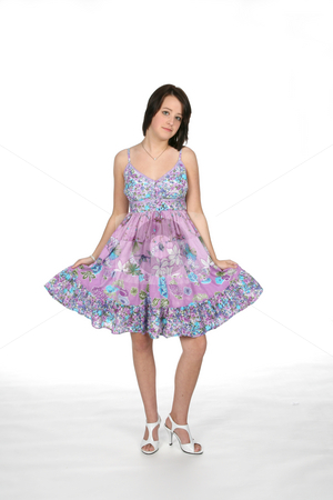 Sundress teen stock photo, Teenage girl in pretty sundress by Sue and Shawn Roberts