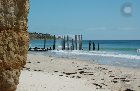 Down at the Beach stock photo, The beautiful coast at Port Willunga, South Australia by Irene Scales