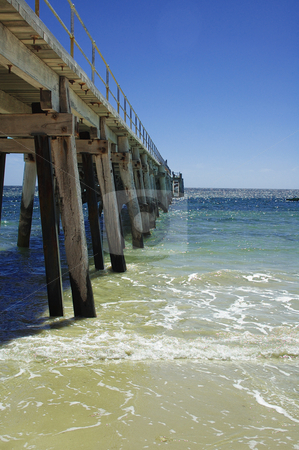 The Jetty stock photo, Port Rickaby jetty in South Australia by Irene Scales