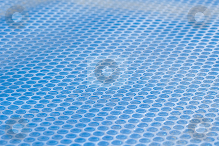 Pool cover stock photo, Solar Pool Cover, bubble texture, blue by Irene Scales
