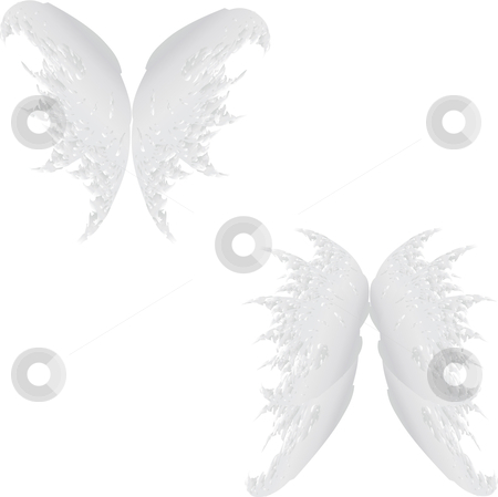 Vector angel wings stock vector clipart, Set of vector angel wings by Michelle Bergkamp