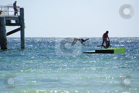Summer Fun 3 stock photo, Having fun in the water at Port Rickaby, South Australia by Irene Scales
