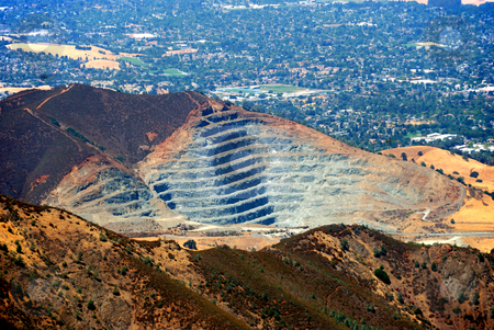 Rock Quarry stock photo, Rock Quarry at Mt. Zion, California as seen from Mt. Diablo by Denis Radovanovic