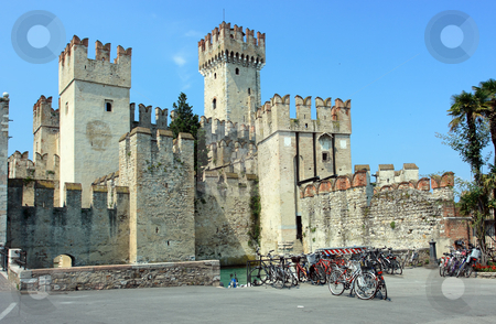 Sirmione castle stock photo, Sirmione castle near Garda lake by Natalia Macheda