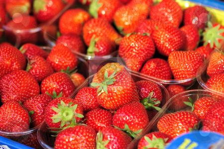 Strawberry on market stock photo, Fresh ripe strawberry on market by Natalia Macheda