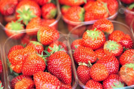 Strawberry on market stock photo, Fresh ripe strawbery on market by Natalia Macheda