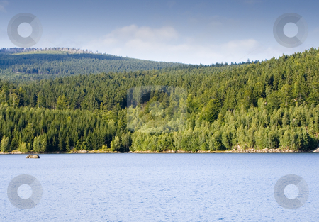 Mountain Lake stock photo, A mountain lake in summer, Loc: 50 by Petr Koudelka