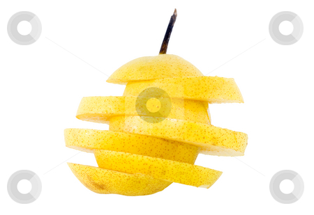 Sliced Nashi stock photo, Close-up of a sliced pear Nashi - Pyrus pyrifolia by Petr Koudelka