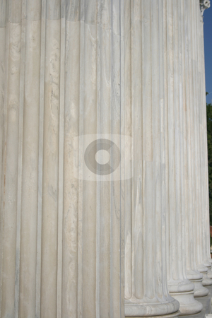 Pillars stock photo, Pillar texture from zapeion building landmarks of athens greece by EVANGELOS THOMAIDIS