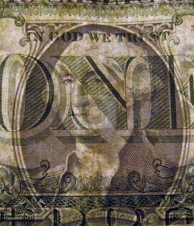Transparent dollar bill stock photo, One dollar bill, seeing both sides at once by Becky Miller