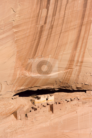 White House Ruins stock photo, The White House ruins in Canyon De Chelly, Arizona. Anasazi ruins dating back some 7-800 years. by Mike Dawson