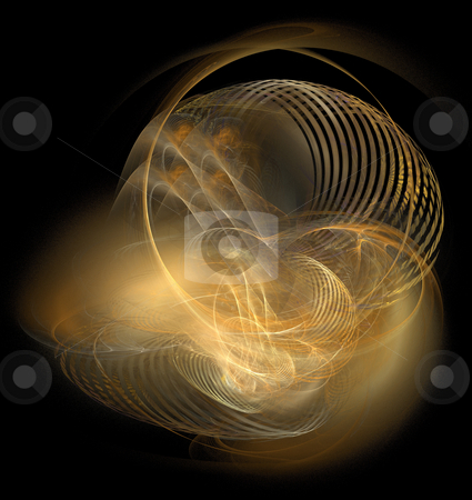 Light chaos stock photo, Abstract illustration of chaotically twisted ray of lights by Natalia Macheda