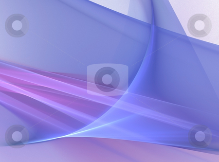 Blue crystal background stock photo, Fractal illustration of blue crystal background by Natalia Macheda