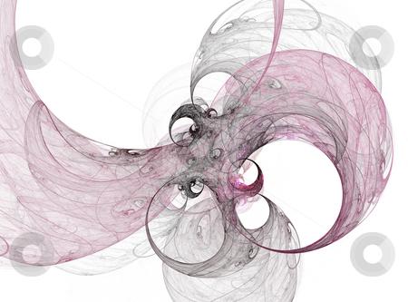 Ink flora stock photo, Fractal illustration of ink floral bubbles by Natalia Macheda