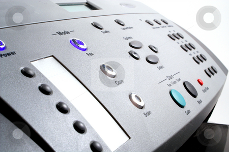 Fax Machine stock photo, A fax machine used for sending documents. by Robert Byron