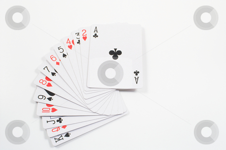 Playing Cards stock photo, A deck of standard sized playing cards. by Robert Byron