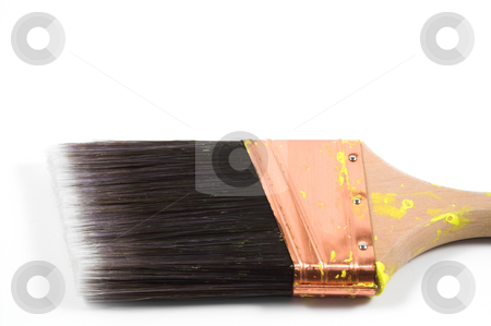 Piant Brush stock photo, A paint brush used for the painting of things and stuff. by Robert Byron