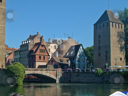 Strasbourg stock photo, View of an old bridge in Strasbourg, France by Antoine Cherrier