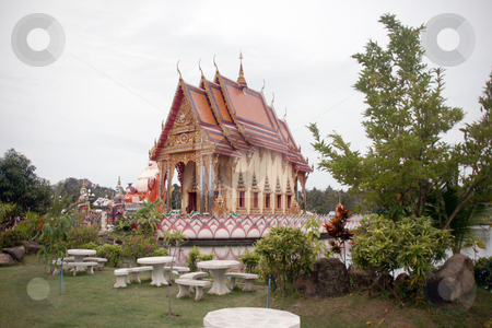 Wat Pai Laem temple stock photo, Wat Pai Laem temple in samui island thailand by EVANGELOS THOMAIDIS