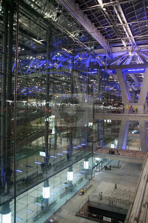 Bangkok airport stock photo, Night shut at bangkok new airport suvarnabhummi by EVANGELOS THOMAIDIS