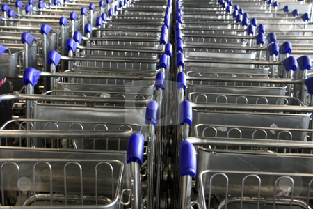Airport Trolley stock photo, Airport Trolley for background use by EVANGELOS THOMAIDIS