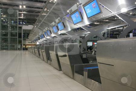 Bangkok airport stock photo, Check in desks in bangkok international airport by EVANGELOS THOMAIDIS