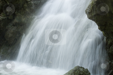 The beautiful waterfall in forest long exposure stock photo, The beautiful waterfall in forest long exposure by Fesus Robert