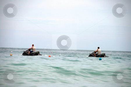 Water jet sky stock photo, Water jet sky summer sports in samui island thailand by EVANGELOS THOMAIDIS