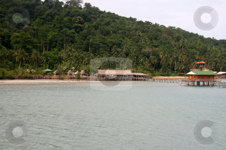 Floating resort stock photo, Floating resort over the sea in koh chang island thailand by EVANGELOS THOMAIDIS