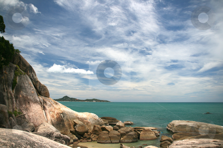Wild view stock photo, Rocky view at lamai beach samui island thailand by EVANGELOS THOMAIDIS