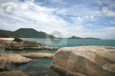 Lamai beach view stock photo, Rocky view at lamai beach samui island thailand by EVANGELOS THOMAIDIS