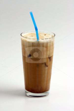 Frape stock photo, A glass of nice greek way ice coffee frape with milk by EVANGELOS THOMAIDIS