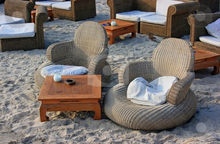 Furniture on the beach stock photo,  by Natalia Macheda