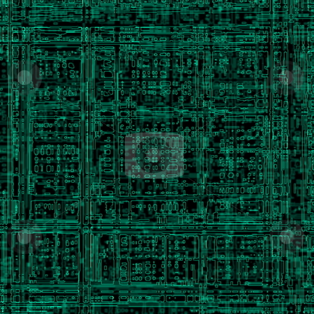 Electric circuit stock photo, Photoshop abstract illustration of electric circuit by Natalia Macheda