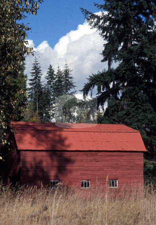 RED BARN stock photo, Scene from Briar Washington. by Elf Evans