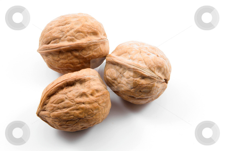 Walnuts stock photo, Delicious whole uinshelled walnuts ready for consumption. by Robert Byron