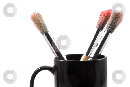 Paint Brushes stock photo, The type of paint brush used by an artist. by Robert Byron