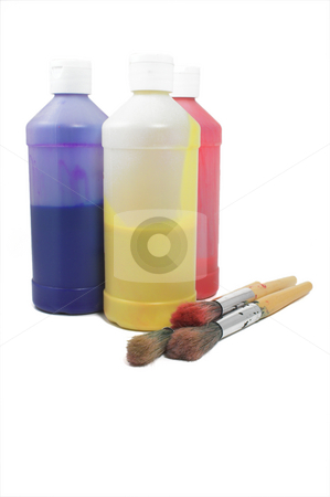 Art Supplies stock photo, A collection of supplies used by artists. by Robert Byron