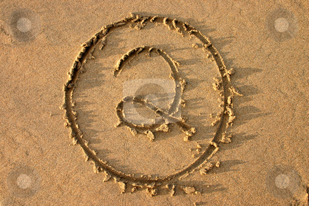 The number 2 written on the beach.  Part of a countdown series. stock photo, The number 2 written on the beach.  Part of a countdown series. by Stephen Rees