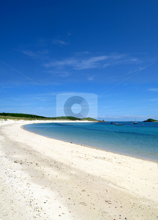 Higher Town bay beach in St. Martins Isles of Scilly. stock photo, Higher Town bay beach in St. Martins Isles of Scilly. by Stephen Rees